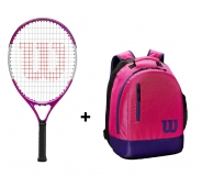 Tenisový set Wilson 21 - Wilson Ultra Pink 21  + Wilson Youth Backpack ružový