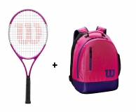 Tenisový set Wilson 25 - Wilson Ultra Pink 25  + Wilson Youth Backpack ružový