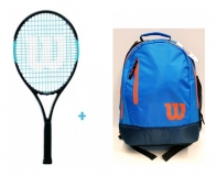Tenisový set Wilson 25 2019 - Wilson Ultra Team 25  + Wilson Youth Backpack modro-oranžový
